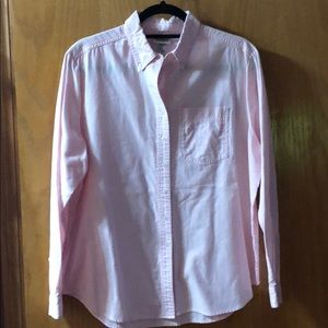 Women's Size 14 Pink Button up Oxford Blouse.